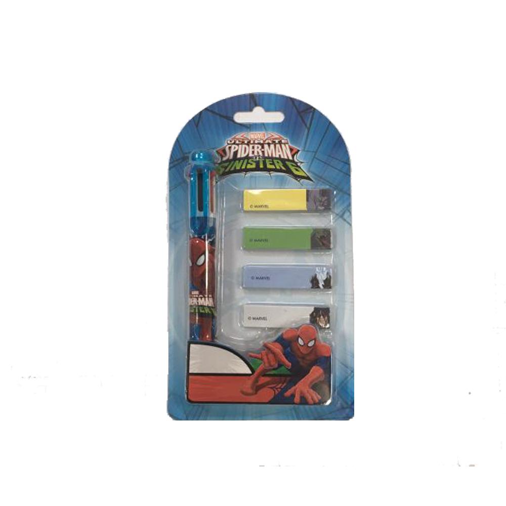 Pix 6culori+4indexuri,Spiderman