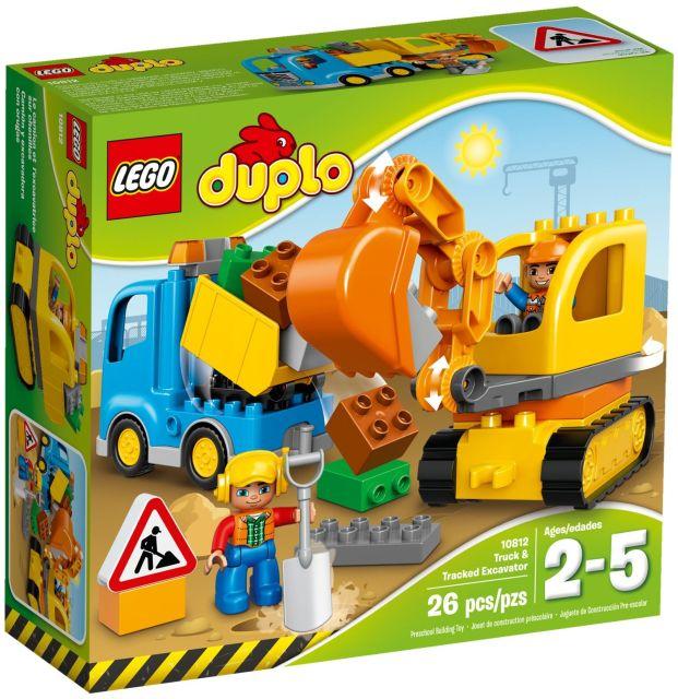 Lego-Duplo,Camion si excavator pe senile