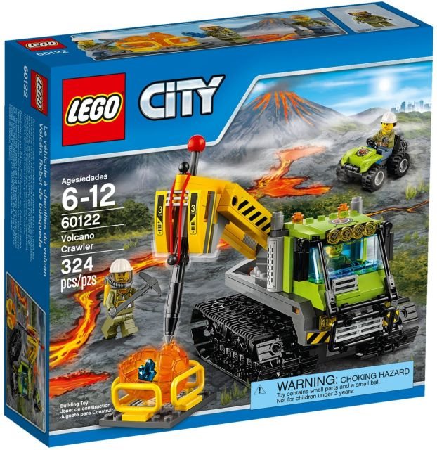 Lego-City,Tractor cu senile pentru vulcan
