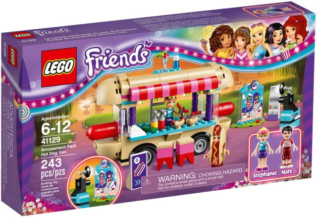 Lego-Friends,Furgoneta de hot dog din parcul de distractii