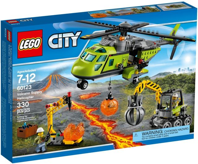 Lego-City,Elicopter de aprovizionare la vulcan