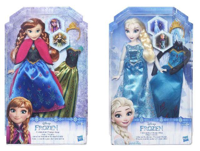 Papusa Disney Frozen,28cm,fashion,rochie de schimb