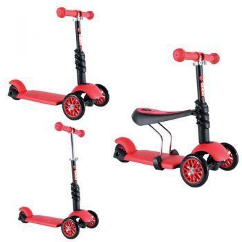 Smart Trike Trotineta Yvolution Glider 3in1 Rosu