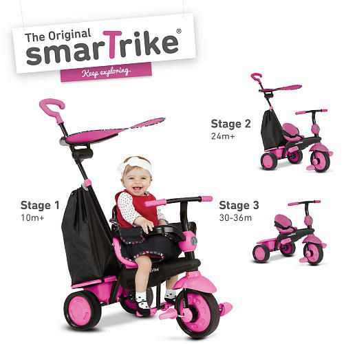 Smart Trike Tricicleta,Delight,4in1,10M-36M,Roz