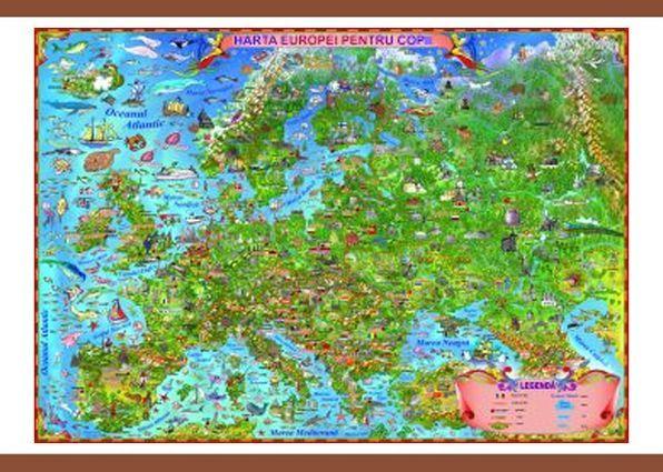 Harta Europei pentru copii,140/100cm