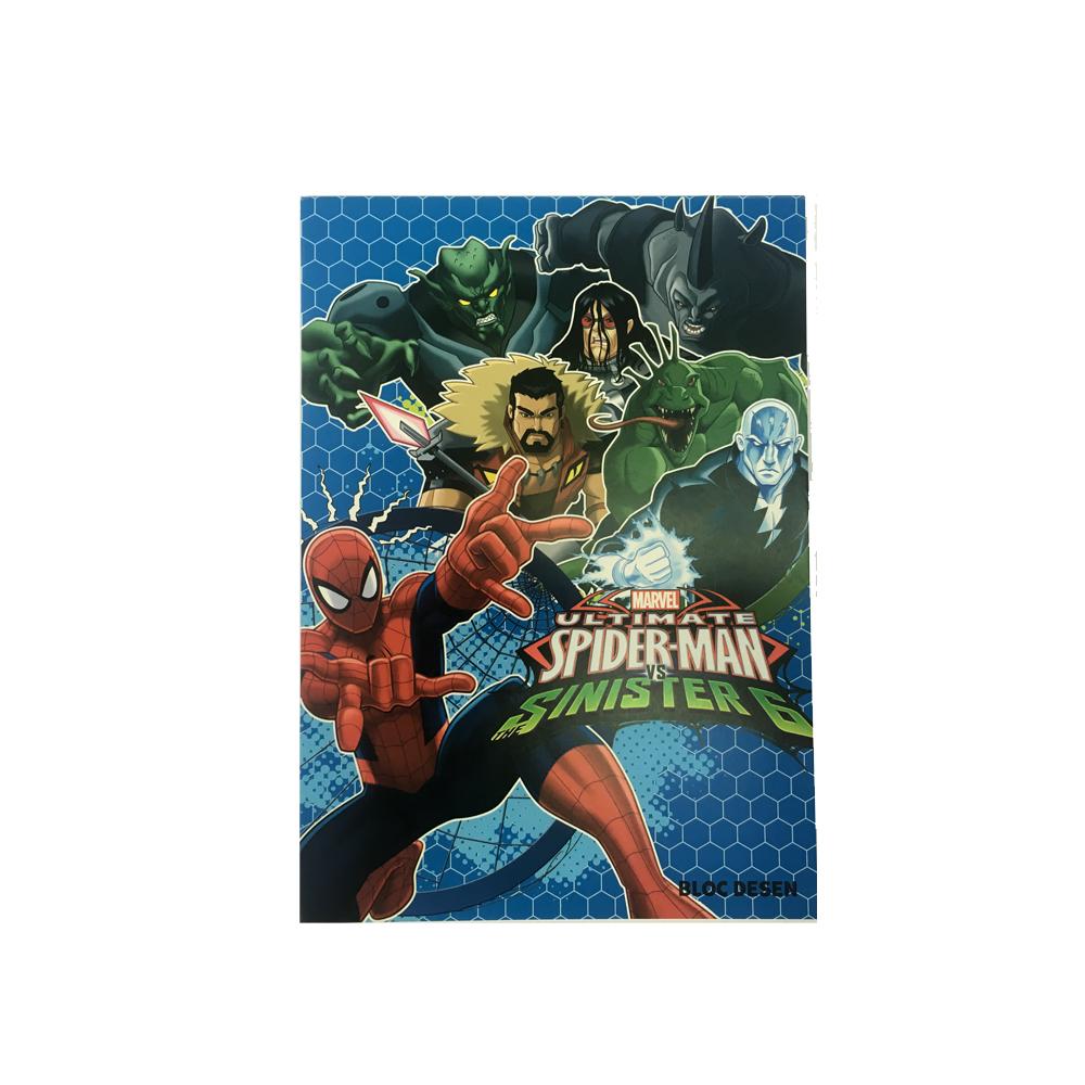 Bloc desen A4,16file,Spiderman