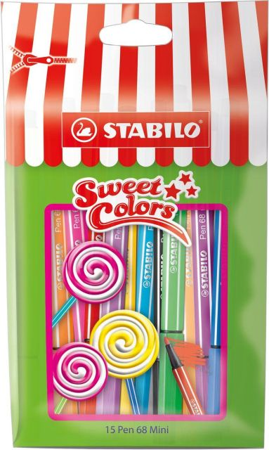 Marker Stabilo Pen 68,10buc/set,mini Sweet