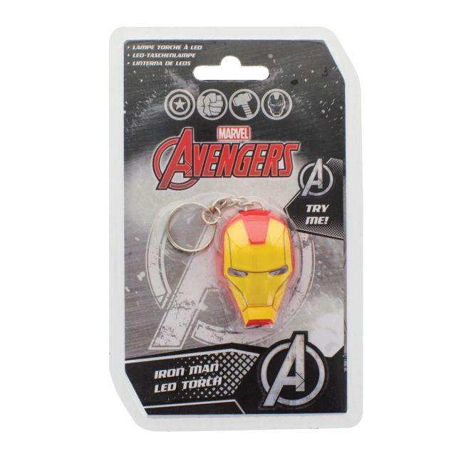 Breloc cu lanterna Iron Man