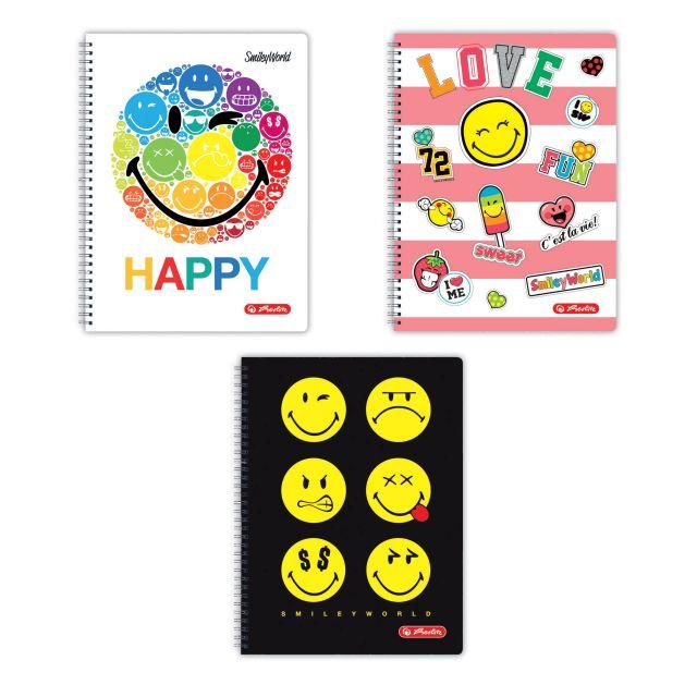 Caiet cu spira A4,70file,SmileyWorld,matematica