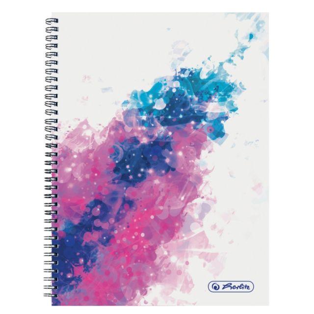 Caiet cu spira A4,70file,Splash roz,matematica