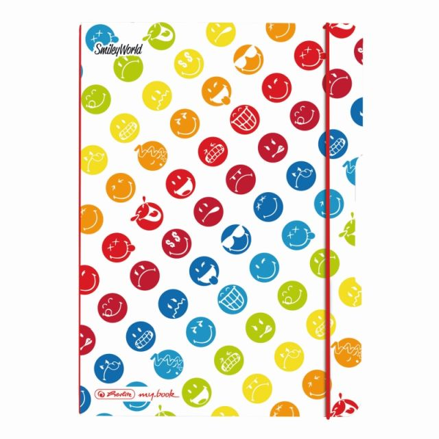 Caiet A5,My.Book Flex,40f,mate,SmileyWorld Rainbow