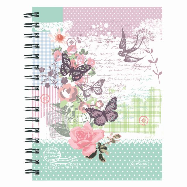 Caiet cu spira A5,70file,Ladylike Butterfly,matematica