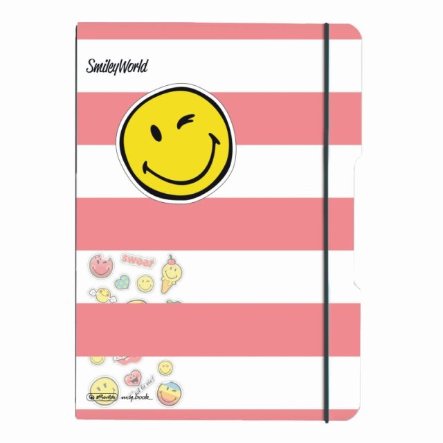 Caiet A4,My.Book Flex,2x40f,d+m,SmileyWorld Girly