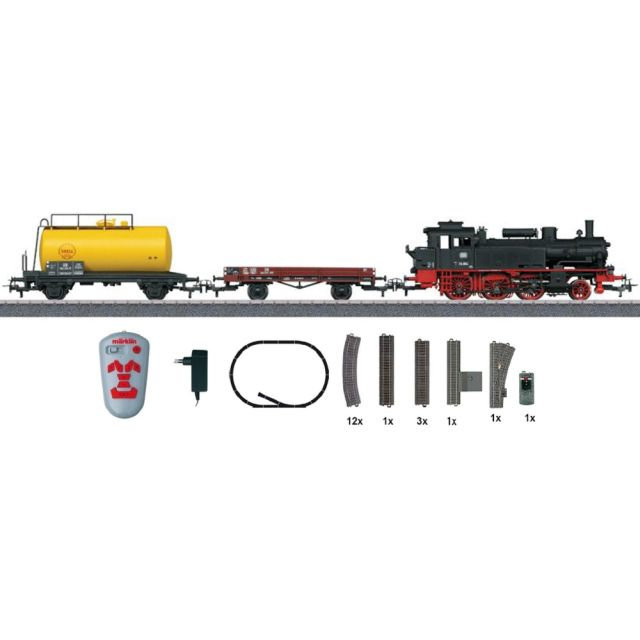 Start set tren de marfa cu locomotiva cu abur,DB, Epoca III