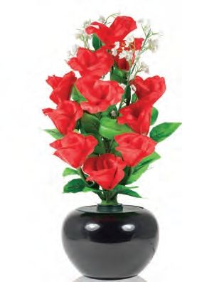 Flori cu microfibra, trandafir