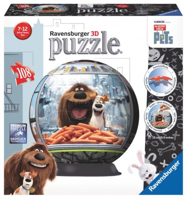 Puzzle 3D Viata secreta a animalelor,108pcs