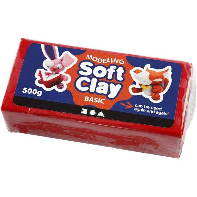 Plastilina Soft Clay,500g,rosu