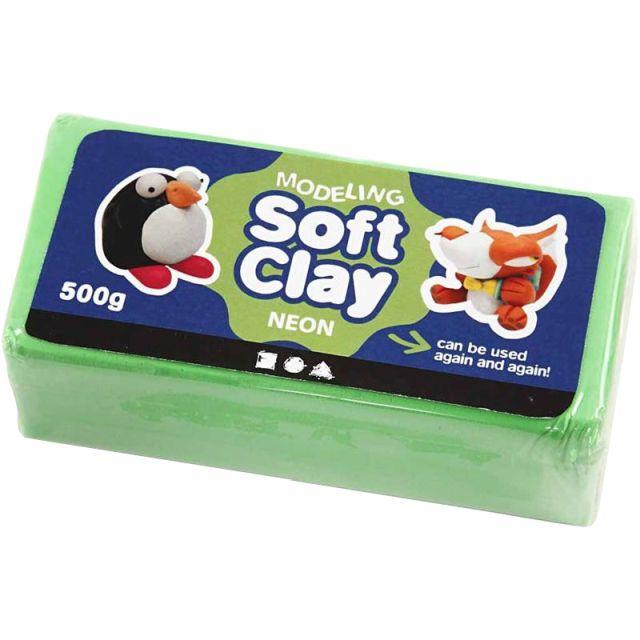 Plastilina Soft Clay,500g,verde neon