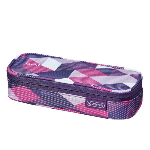 Pouch Be.Bag Cube,Purple Checked