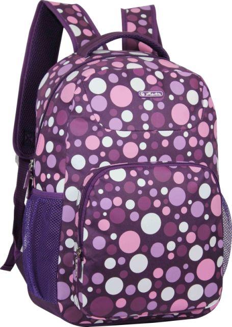 Rucsac Herlitz,1 compartiment,Polka Dots Purple