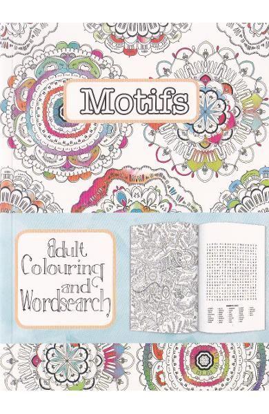 CT 3 Carte de colorat pentru adulti A5 Motive si cuvinte incrucisate