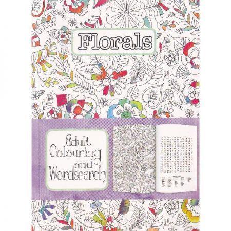 CT 3 Carte de colorat pentru adulti A5 Flori si cuvinte incrucisate