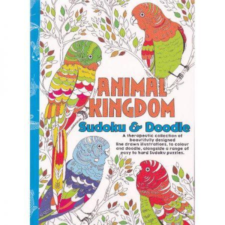 CT 3 Carte de colorat pentru adulti A5 Regatul animalelor si Sudoku