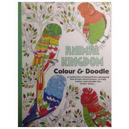CT 3 Carte de colorat pentru adulti A4 Regatul Animalelor