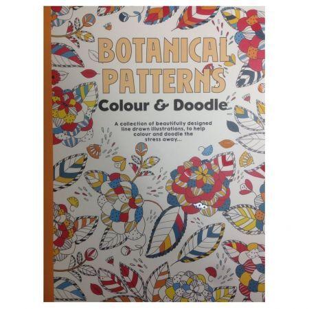 CT 3 Carte de colorat pentru adulti A4 Modele Botanice