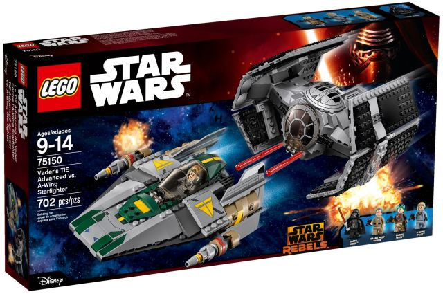 Lego-Star Wars,Tie Advanced al lui Vader contra A-Wing Starfighter