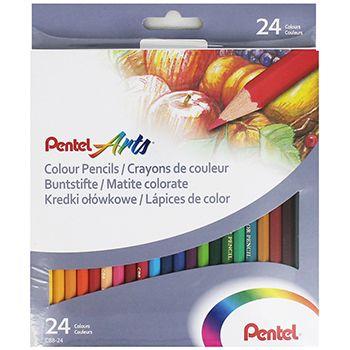 Creioane colorate,24b/set,Pentel