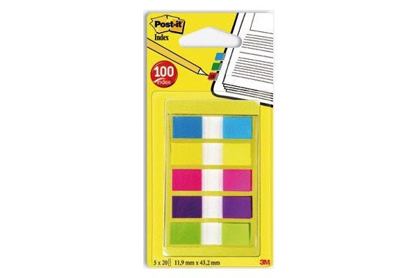 Index Post-it®,5*20file,culori asortate