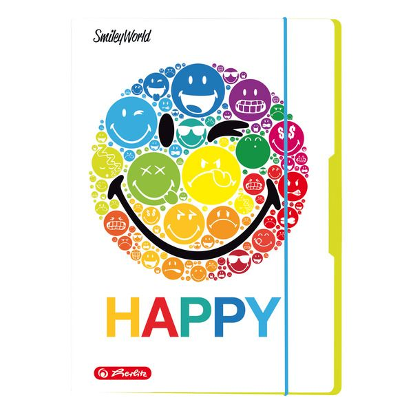 Mapa A4,elastic,SmileyWorld Rainbow