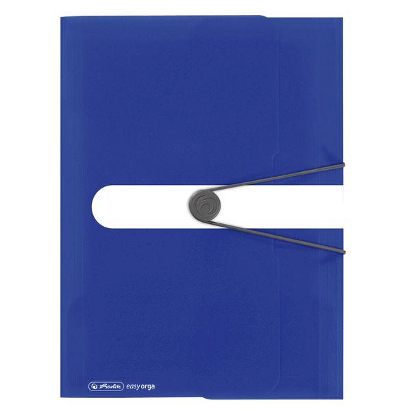 Mapa A4,PP,cu elastic,albastru intens