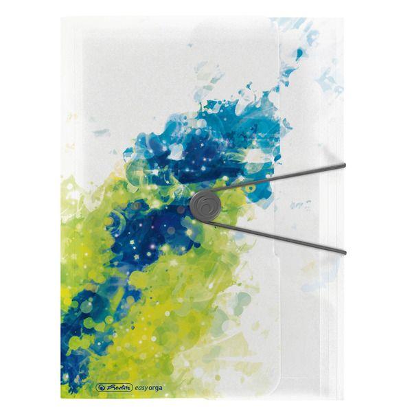 Mapa A4,PP,elastic,Color Splash,lemon