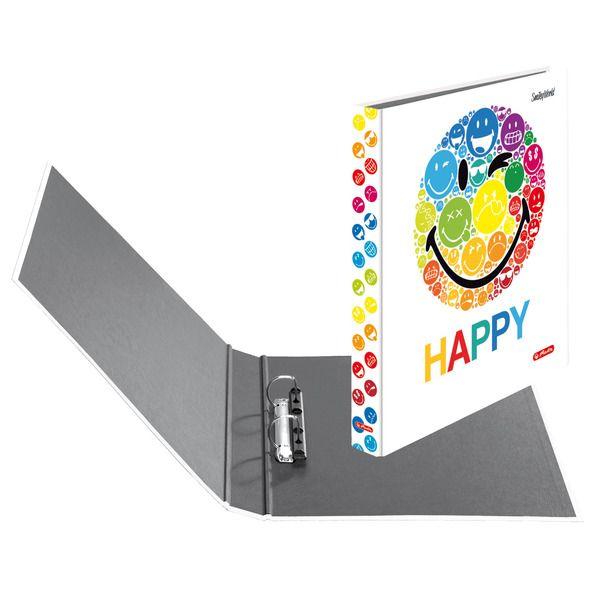 Caiet mecanic A4,25mm,2inele,SmileyWorld Rainbow
