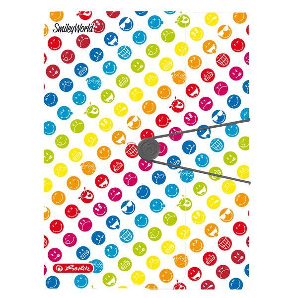 Mapa A4,elastic,EO,SmileyWorld Rainbow
