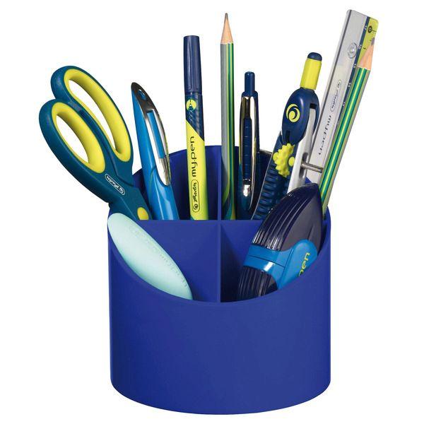 Suport accesorii,4compartimente,albastru intens