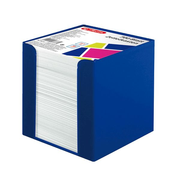 Cub hartie 9x9cm,700f,cu suport,albastru intens