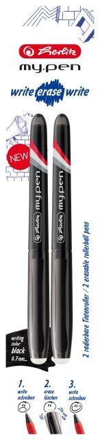 Roller My.Pen WEW,negru,2buc/blister