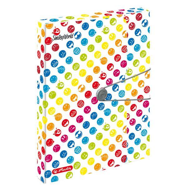 Mapa A4,elastic,EO,40mm,SmileyWorld Rainbow
