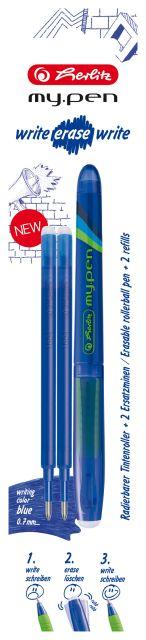 Roller My.Pen WEW+2rezeve,albastru