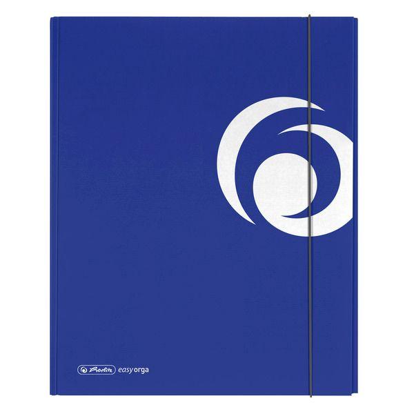 Mapa A4,carton,XL,elastic,albastru intens