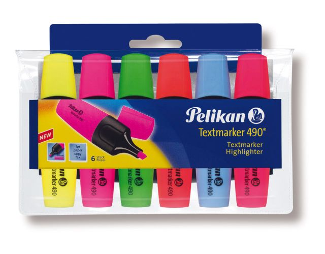 Textmarker Pelikan 490,6buc/set