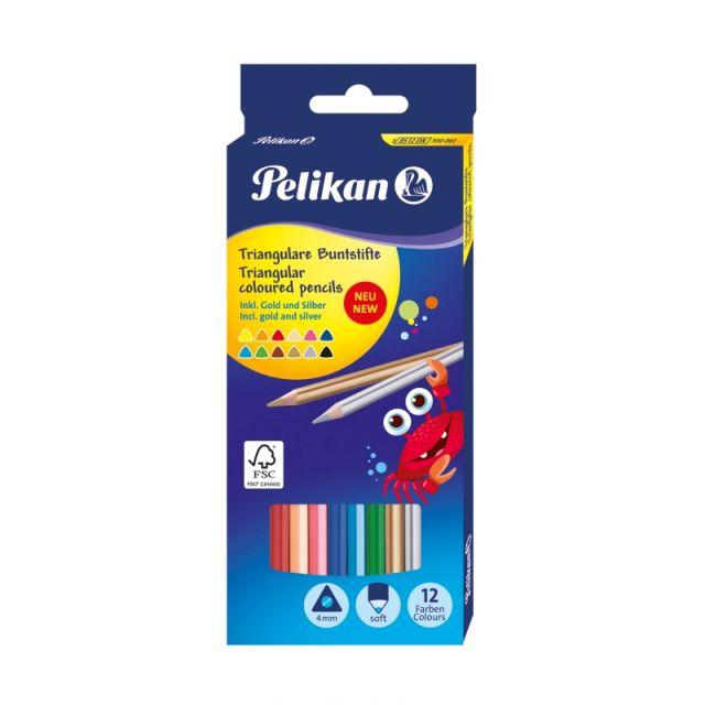 Creioane colorate,12b/set,Pelikan