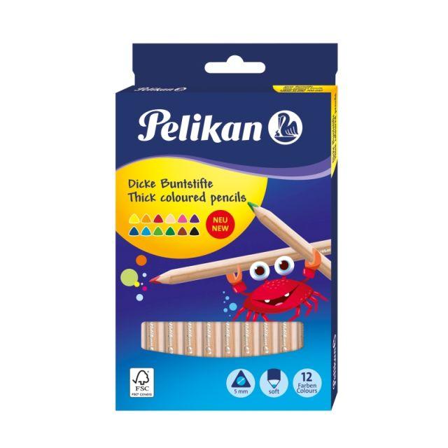 Creioane colorate,12b/set,jumbo,Pelikan