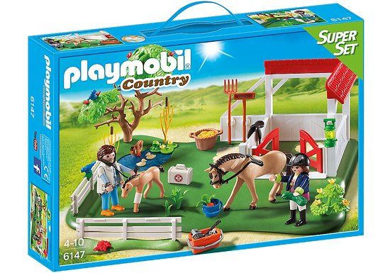 Playmobil-Super set grajd cu cai