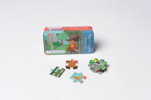 Puzzle Motanul Incaltat,Momki,cutie metal