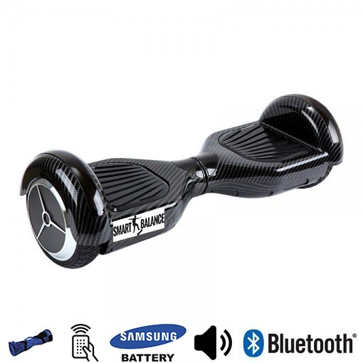 Hoverboard, Smart Balance, 350W x 2, Negru metalizat, Bluetooth