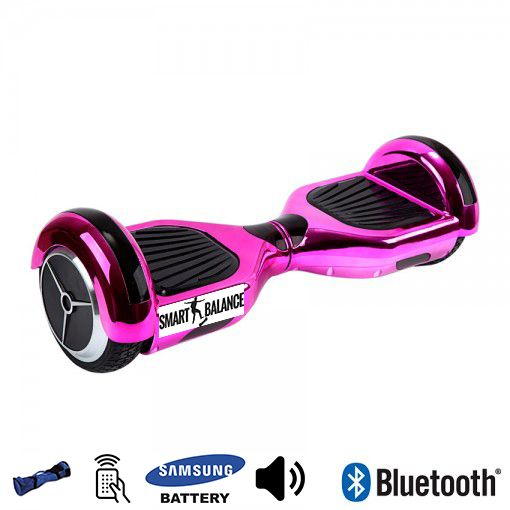 Hoverboard, Smart Balance, 350W x 2, Roz metalizat, Bluetooth
